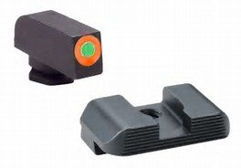 Ameriglo UC Sight Set For Glock 17/39 Green Tritium With Orange Outline Front Sight U-Notch