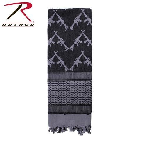 Appoutga-crossed-rifles-shemagh-tactical-scarf Grey