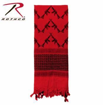 Appoutga-crossed-rifles-shemagh-tactical-scarf Red