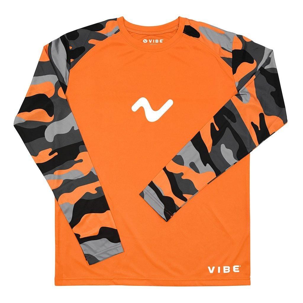Vibe Performance Wicking Long Sleeve T-Shirt Orange