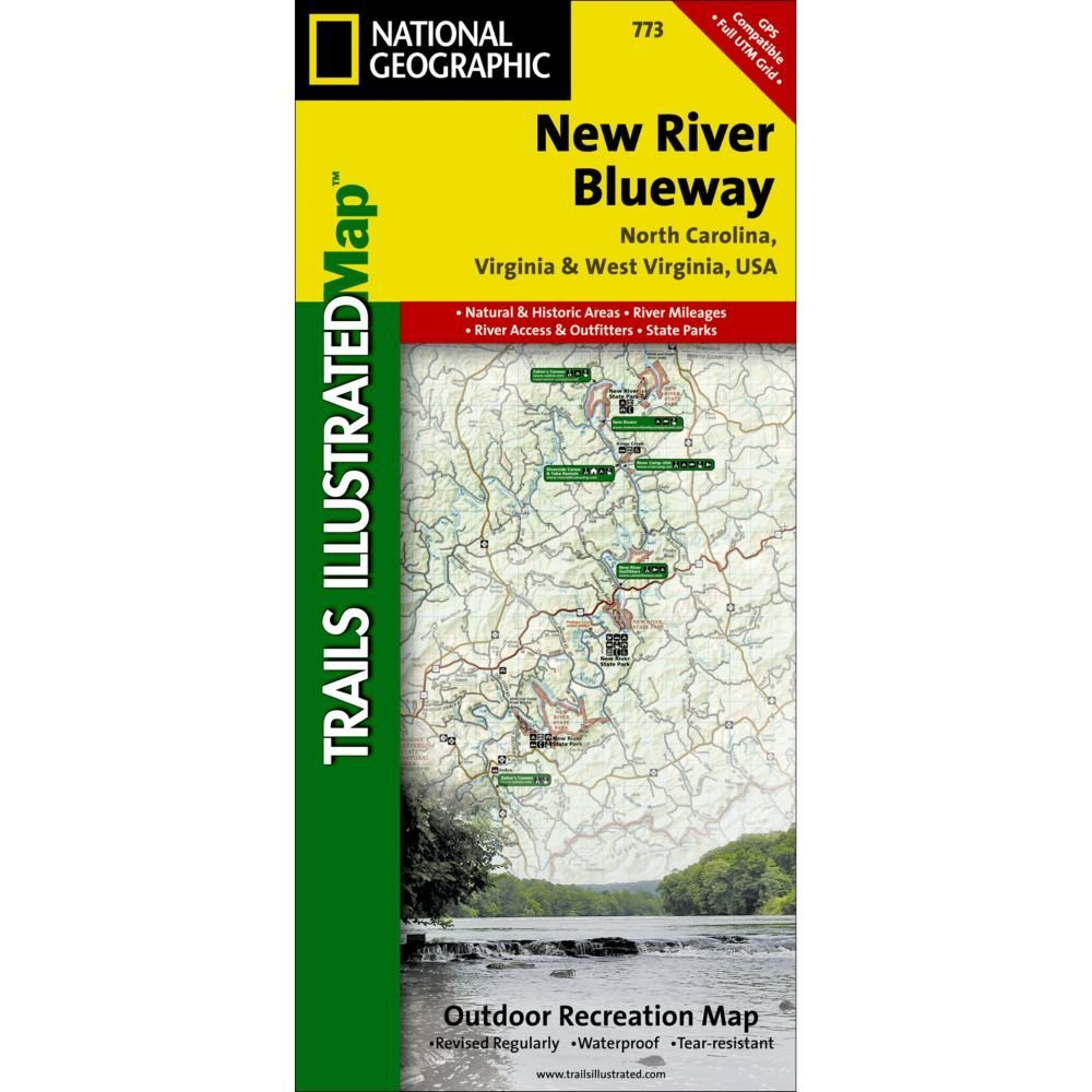 National Geographic # 773 New River Blueway Trail Map