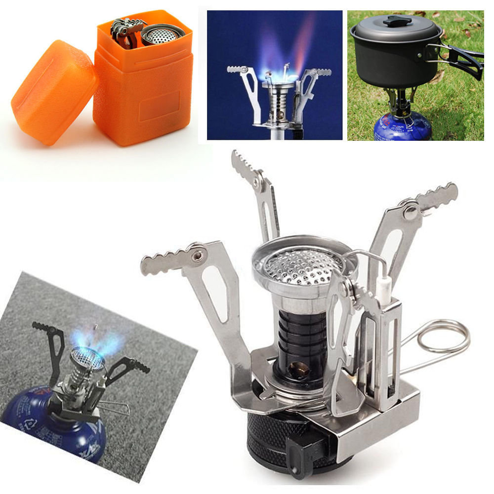 Ultralight Portable Outdoor Backpacking Camping Stoves with Piezo Ignition