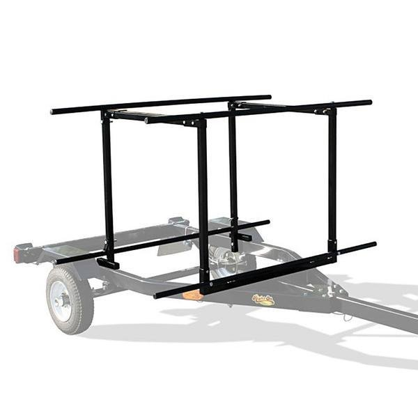 Right on Black Trailer with Upper Rack