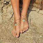 Silver Ankle Bracelet Toe Ring Multilayer Tassel Barefoot Sandals