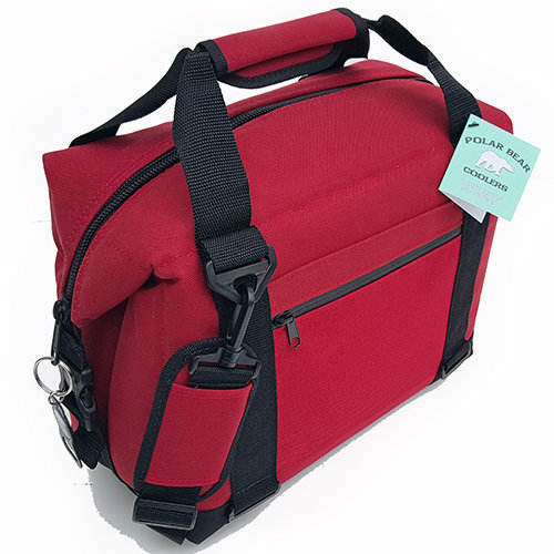 Polar Bear Nylon 12 Pack Cooler Red