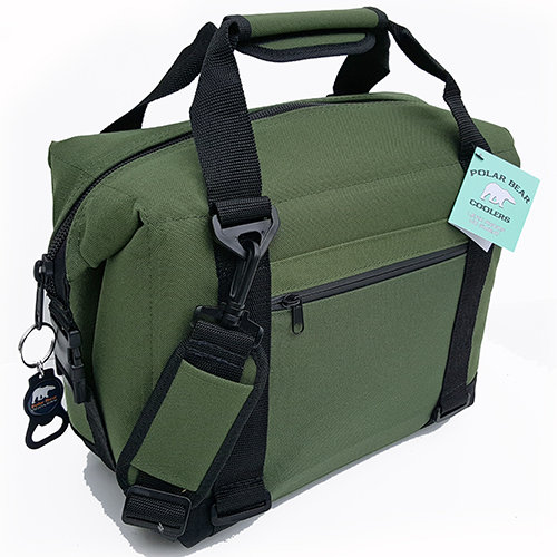 Polar-Bear-12-Pack-Nylon-Coolers Green