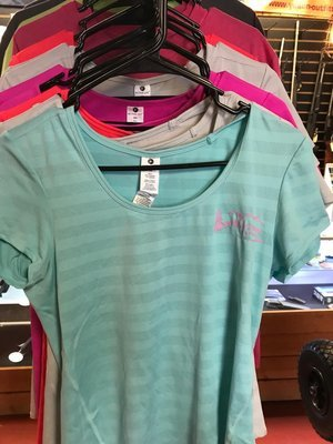 Ladies Appoutga Wicking T- Shirts small teal