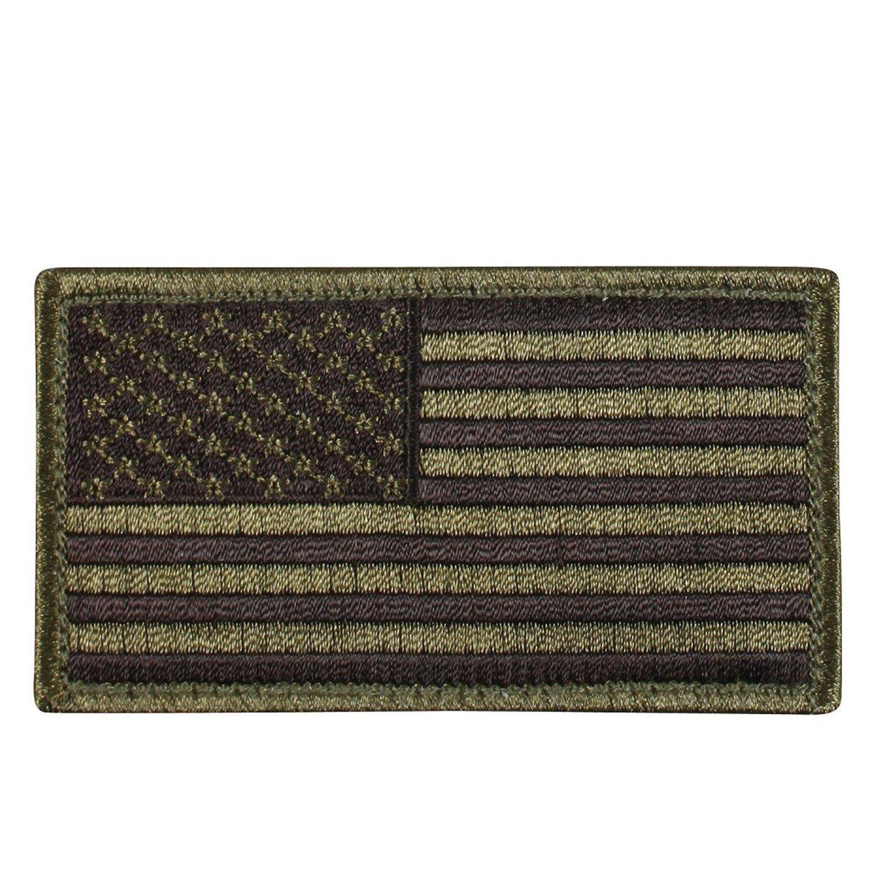 Appoutga'sAmerican Flag Patch OD/Black