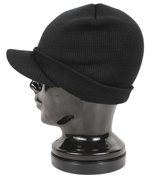 Rothco Beanie Cap With Bill Black