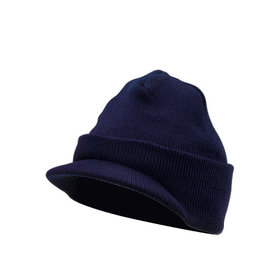 Rothco Beanie Cap With Bill Navy