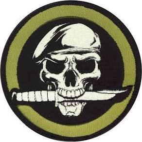 Rothco Military Skull Knife Morale Patch