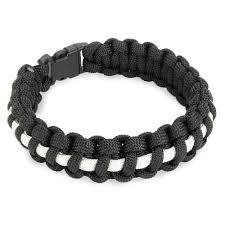 Appoutga's Two-Tone Paracord Bracelet Black & White 7 inch 939