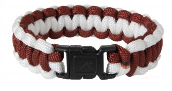 Rothco Two Toned Paracord Bracelet Maroon/White