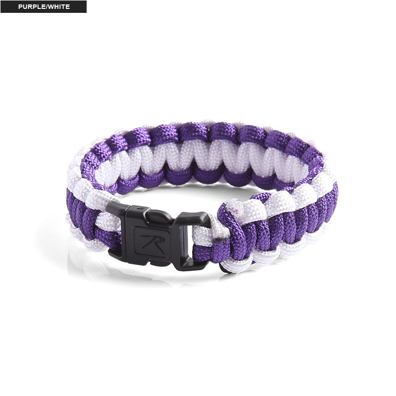 Rothco Two Toned Paracord Bracelet Purple/White