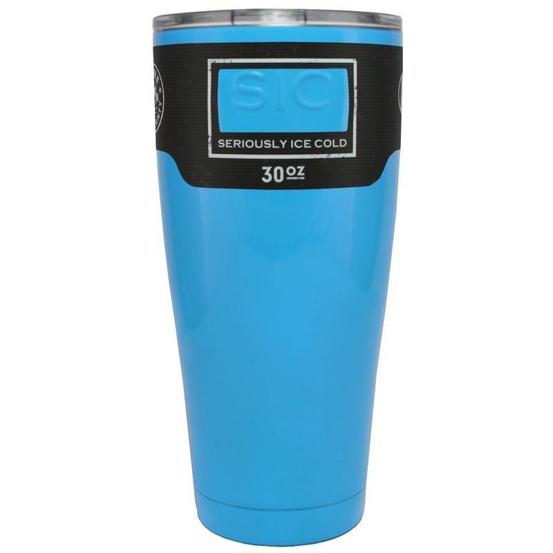 SIC Baby Powder Blue Gloss 30 oz. Glacier Tumbler