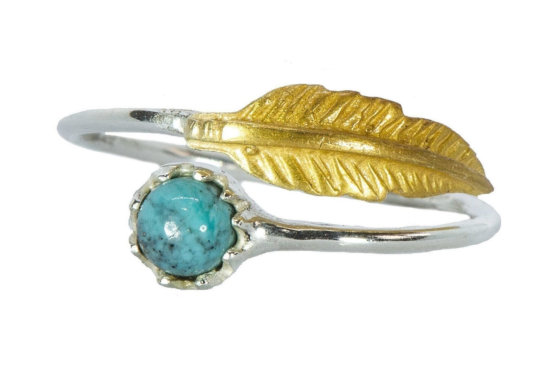 Pura Vida Feather Ring Gold/Silver