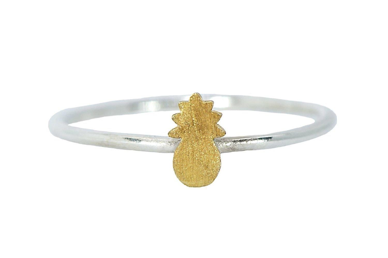 Pura Vida Pineapple Ring Silver
