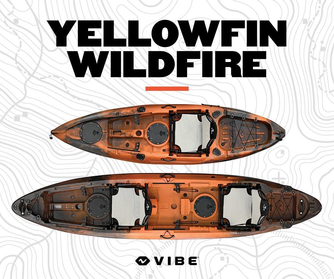 Vibe Yellowfin T130 Tandem ) Wildfire