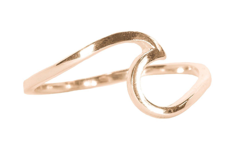 Pura Vida Rose Gold Wave Ring