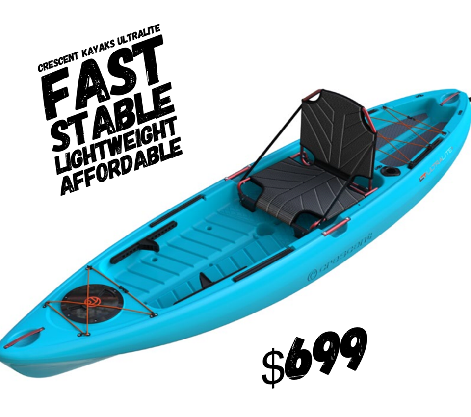 """Crescent Kayaks  Ultra Light 10'2"""" Blue **** Store pickup only No Shipping ****"""