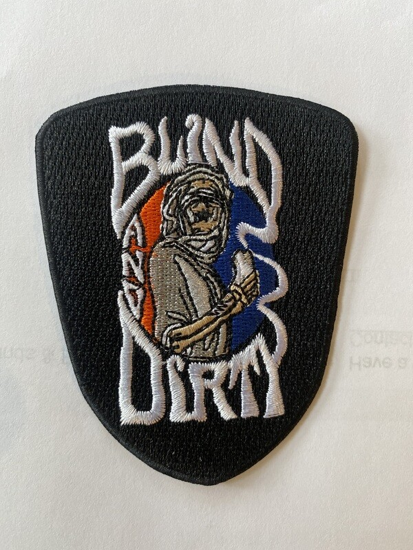 """3"""" custom embroidered patch, iron-on backing"""