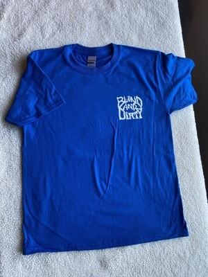 Youth t-shirt, size-medium, color-royal blue