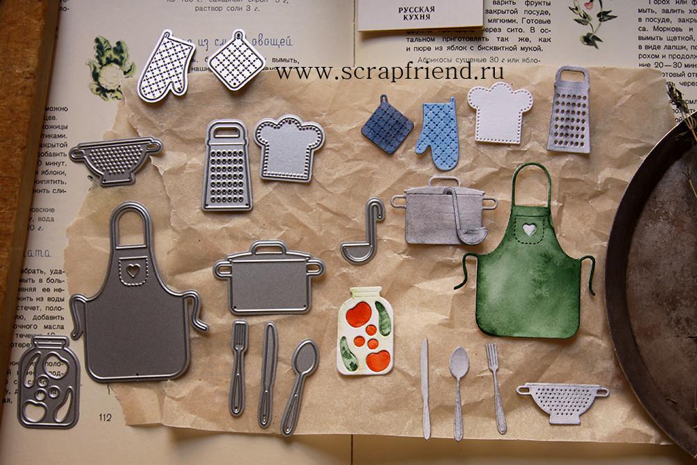 Набор ножей для вырубки Гретта - Первое, 12 штук, Scrapfriend