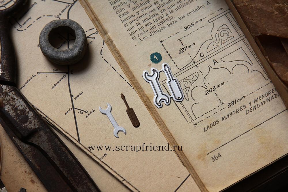 Dies Tools, 2 pieces, 2,5 cm, Scrapfriend