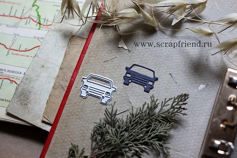 Die Icon Car, 2,5x2 cm, Scrapfriend