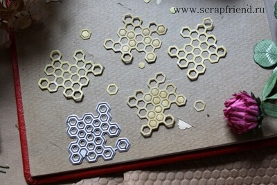 Dies Honeycombs, 3,5x3.5 cm, Scrapfriend