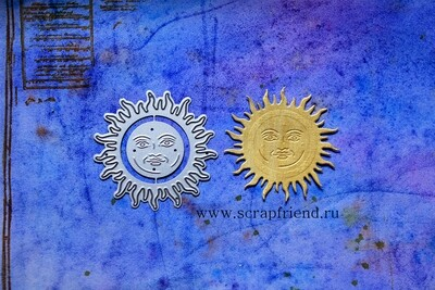 Dies Alchemy - Sun, 2 pcs, 2,5-5,5 cm, Scrapfriend