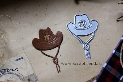 Die Cowboy - Hat, 4x5,5 cm, Scrapfriend