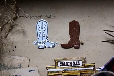 Die Cowboy - Boot, 3,5x4 cm, Scrapfriend