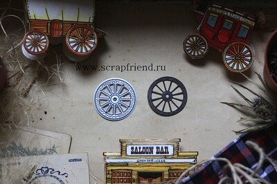 Die Cowboy - Wheel, 3 cm, Scrapfriend