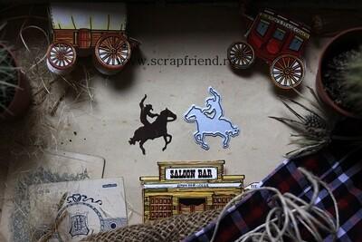 Die Cowboy - Silhouette, 3,5x4 cm, Scrapfriend