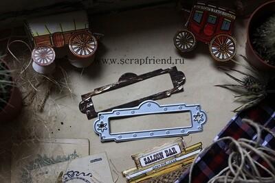 Die Cowboy - Frame, 9,5x3 cm, Scrapfriend