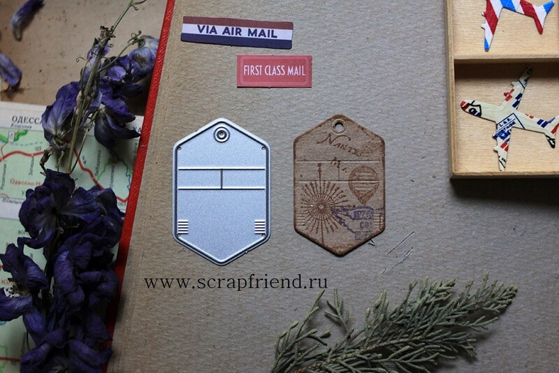 Die Luggage tag London, 3,3x5 cm, Scrapfriend