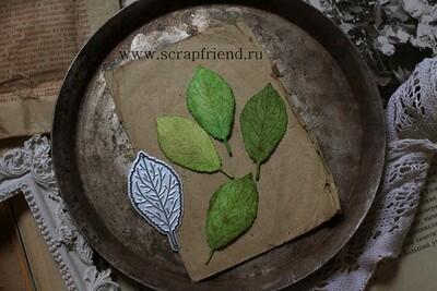 Die Plum leaf, 2,5x5 cm, Scrapfriend