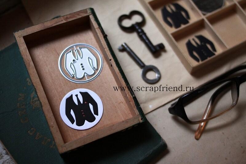 Набор ножей для вырубки Джентльмен, 3,8см, Scrapfriend