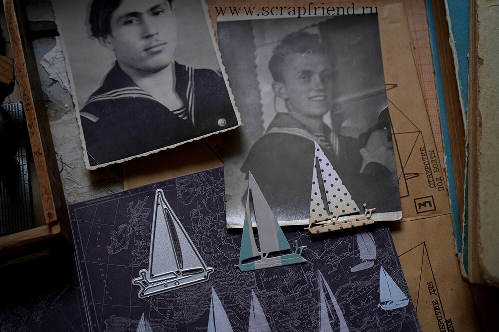 Die Sailboat, 3,5x5 cm, Scrapfriend
