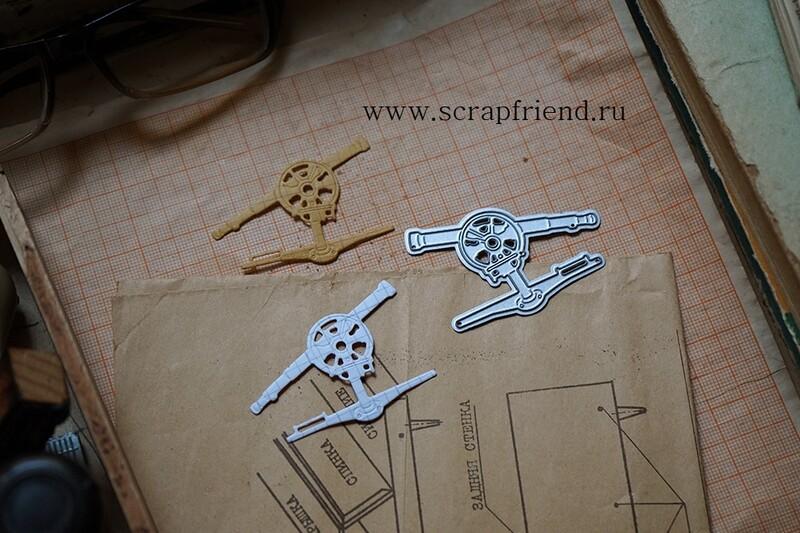 Нож для вырубки Кипрегель, 5х3,5см, Scrapfriend