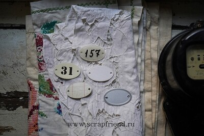 Die Apartment number, 4,5x2,5 cm, Scrapfriend