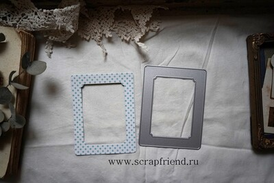 Die Zigrid: Photoframe for 7,5x10cm (3x4 inch)  photo, Scrapfriend