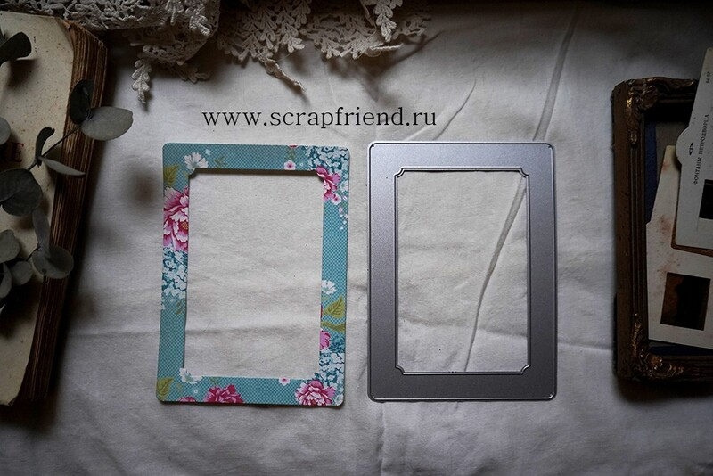 Die Paola: Photoframe for 9x13 cm (3,5x5 inch) photo, Scrapfriend