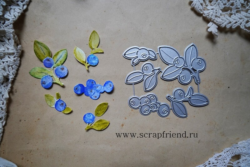Dies Fairytale - Blueberry, 5 pcs, Scrapfriend