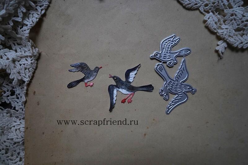 Набор ножей для вырубки Сказки - Сорока-белобока, 2 штуки, Scrapfriend