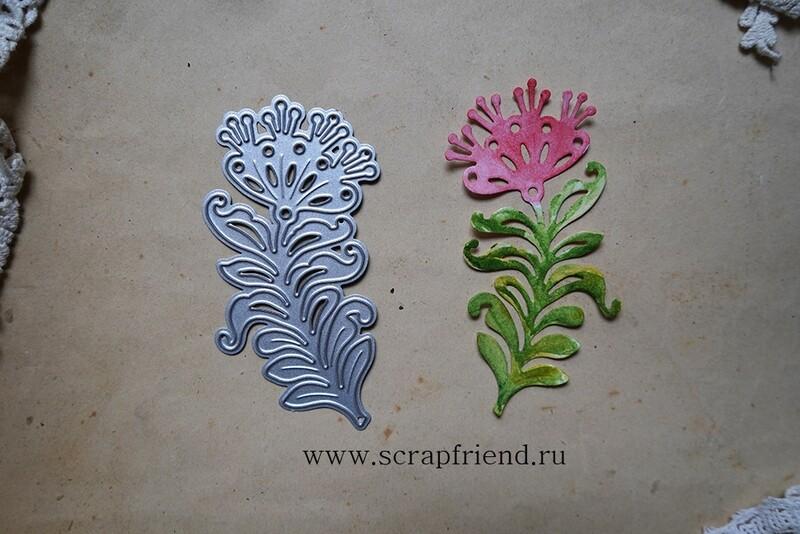 Нож для вырубки Сказки - Аленький цветочек, 8,2х4,2см, Scrapfriend