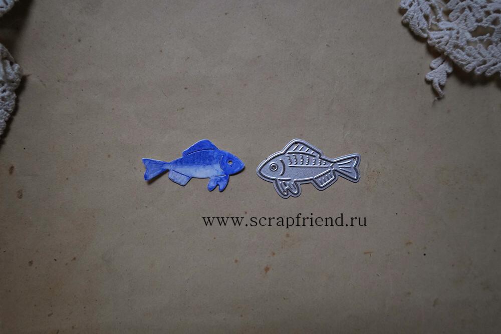 Die Fairytale - Fish, 4x2 cm, Scrapfriend
