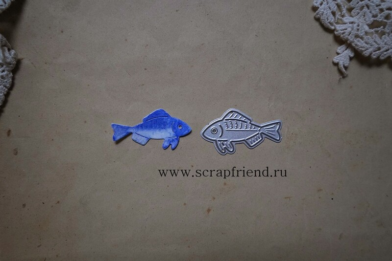 Нож для вырубки Сказки - Рыбка, 4х2см, Scrapfriend