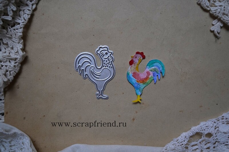 Die Fairytale - Cockerel, 3x4,5 cm, Scrapfriend